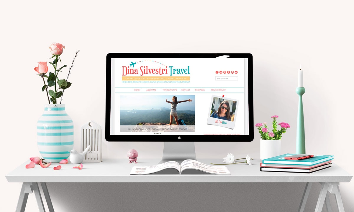 Dina Silvestri Travel Blog Design