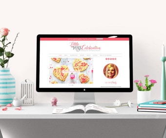 Little Miss Celebration Blog Design