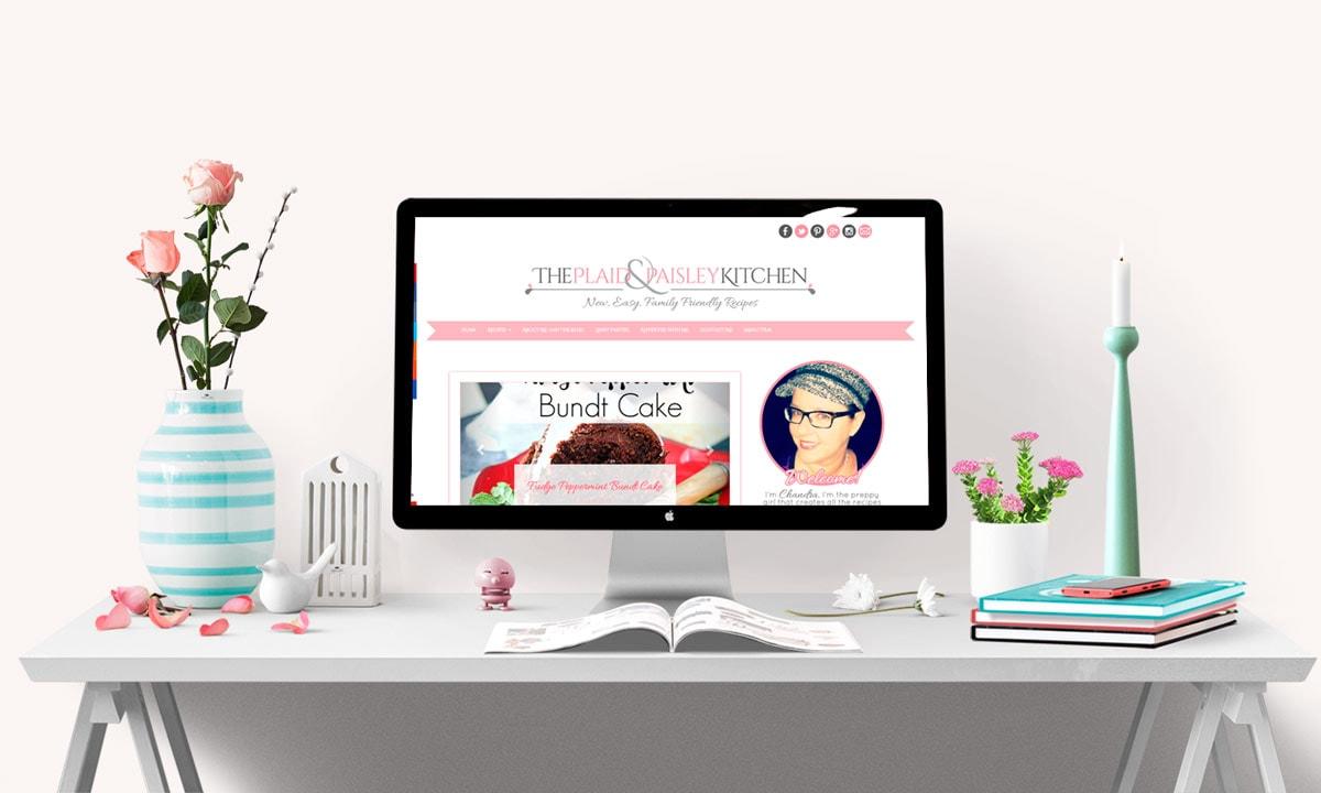 The Plaid & Paisley Kitchen Blog Design
