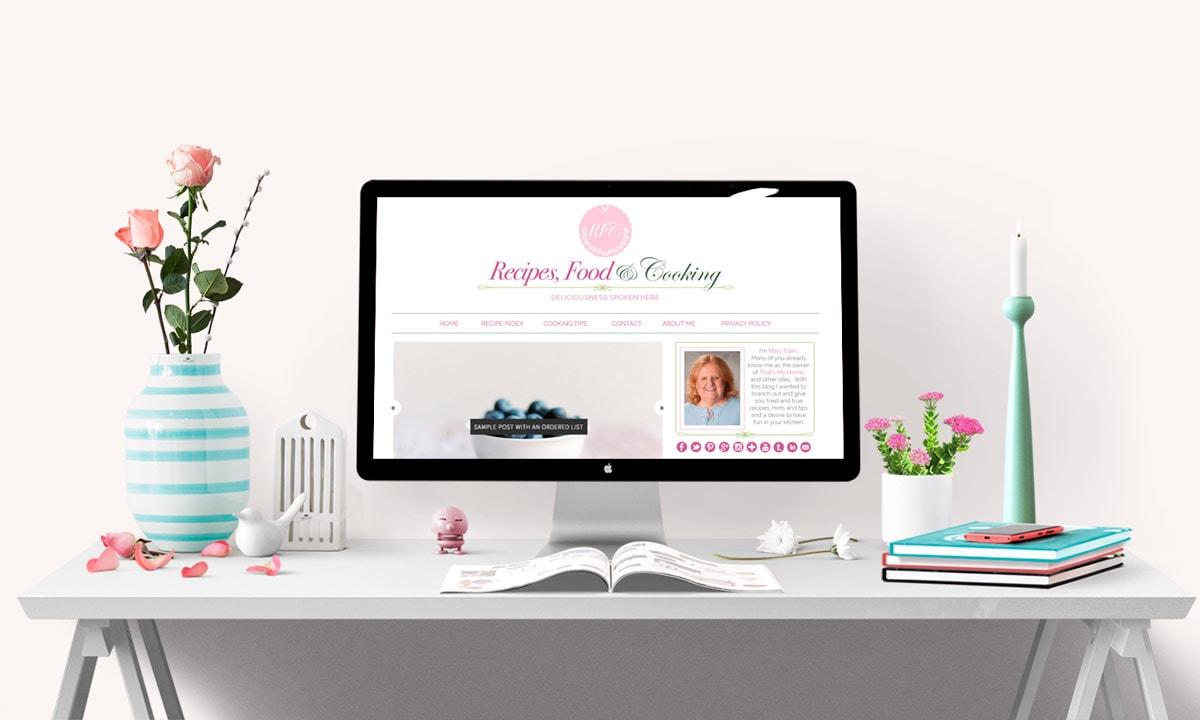 Recipes, Food & Cooking Blog Design