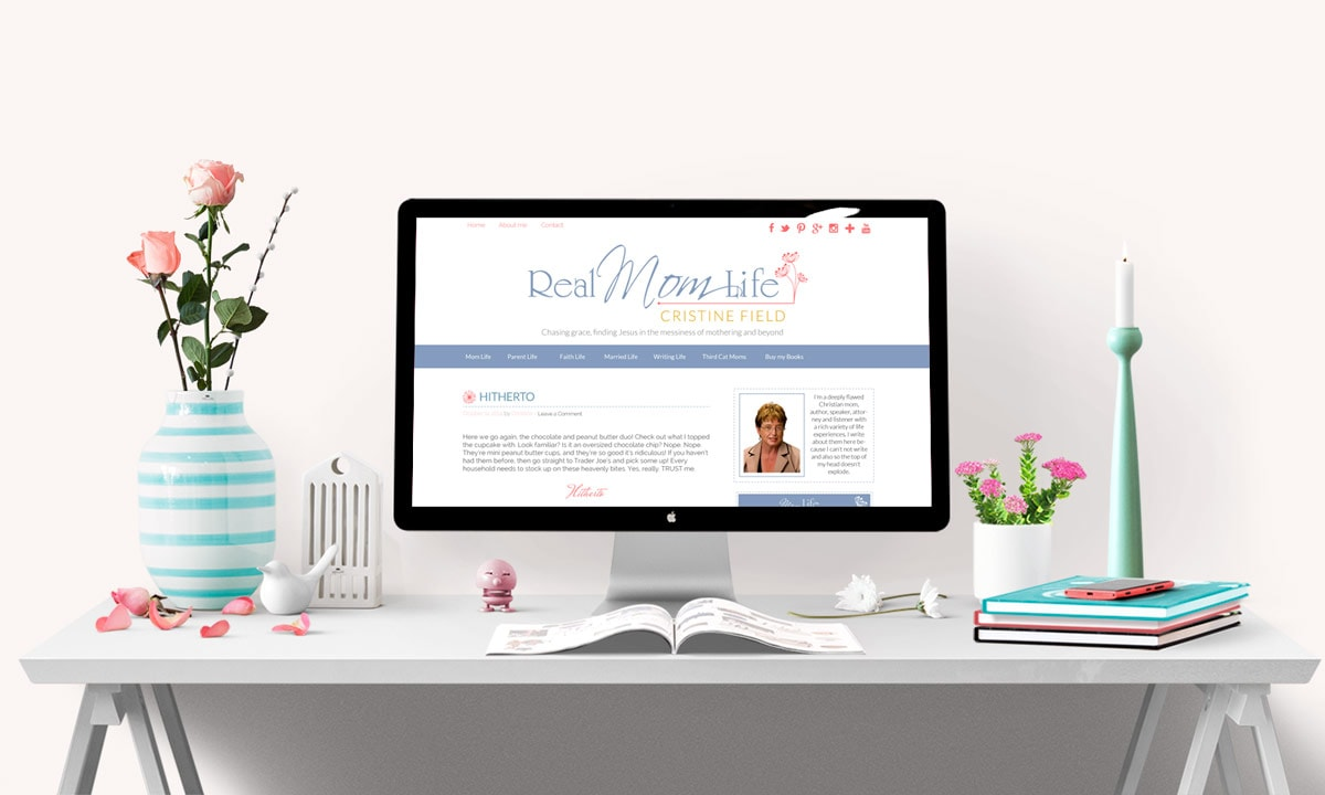 Real Mom Life Blog Design