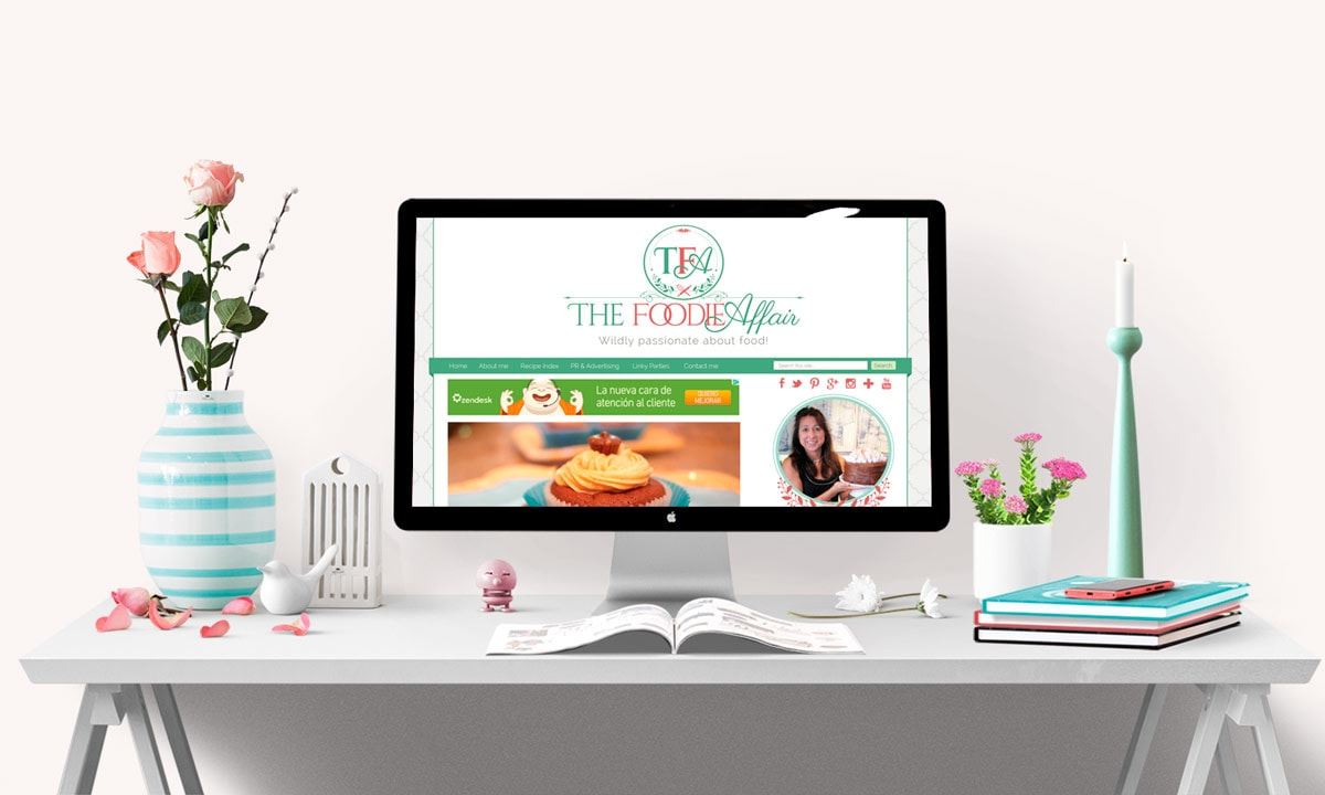 The Foodie Affair Blog Design