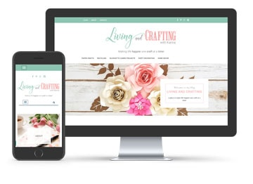 Living and Crafting Blog Design
