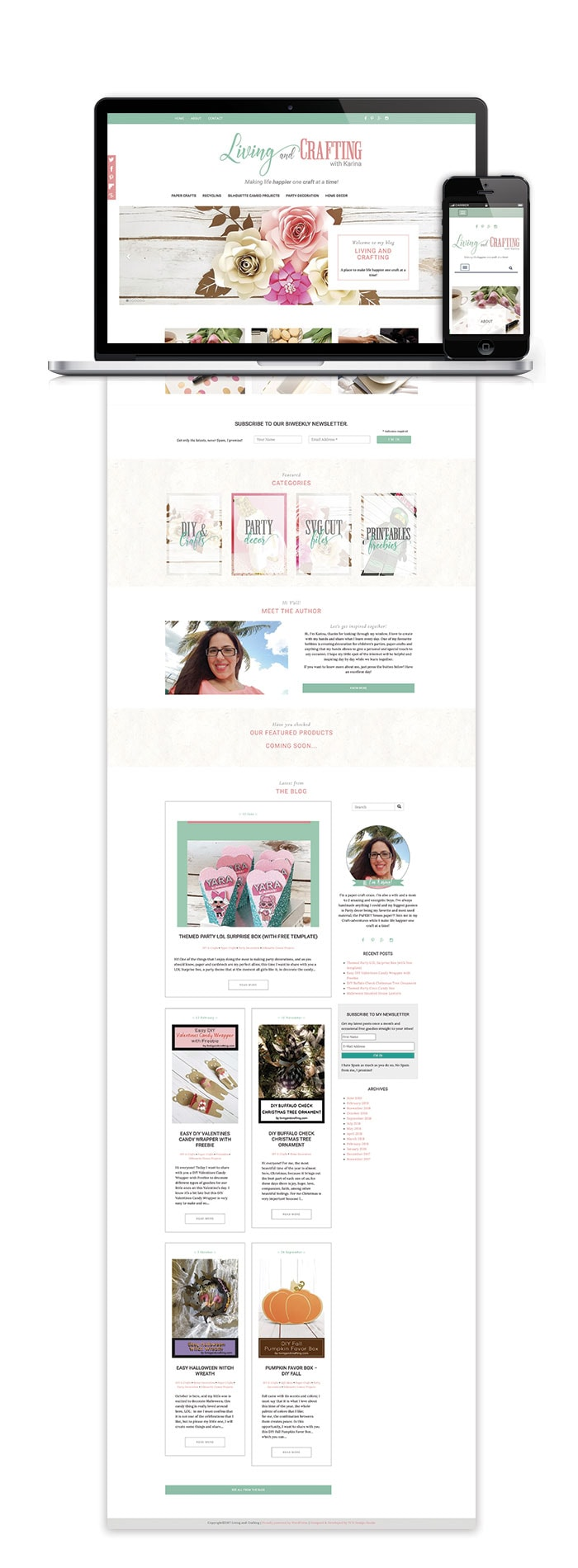 Living and Crafting Wbsite Blog Design 2018