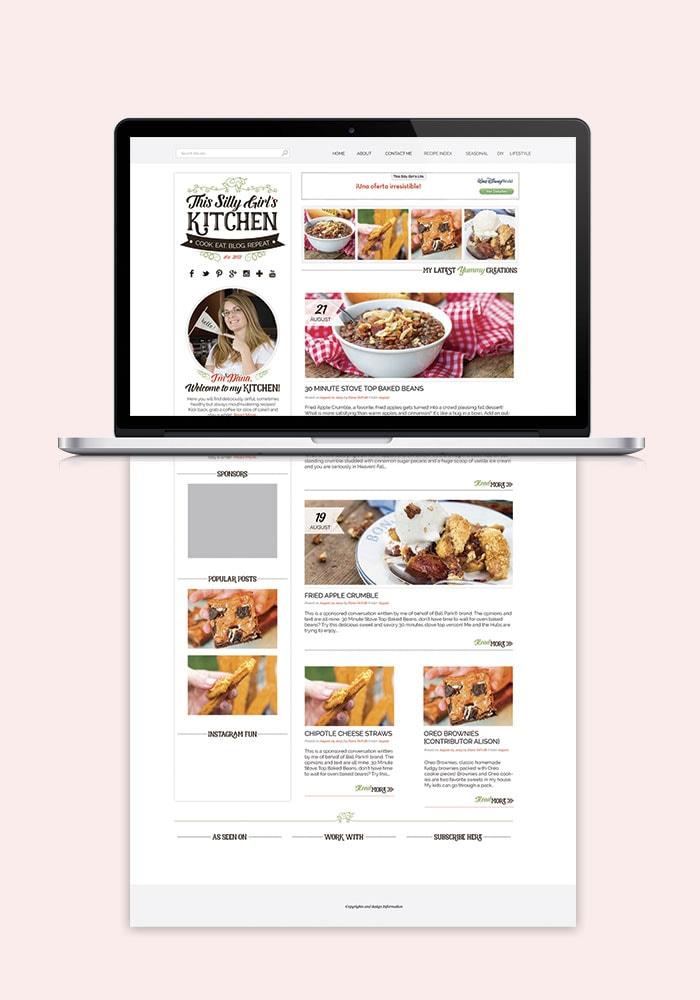 This Silly Girl's Kitchen Website Blog Design 2015
