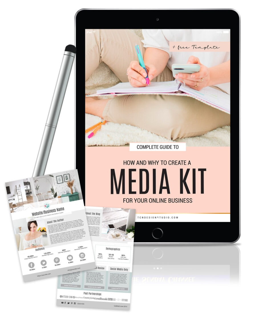 Complete Guide to How and Why to Create a Media Kit for your Business + Free Template Mockup