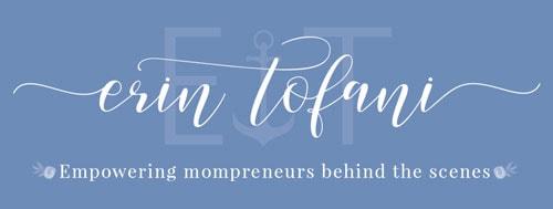 Erin Tofani Main Logo Dark Background