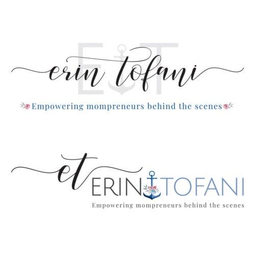 Erin Tofani Logos Primary and secondary