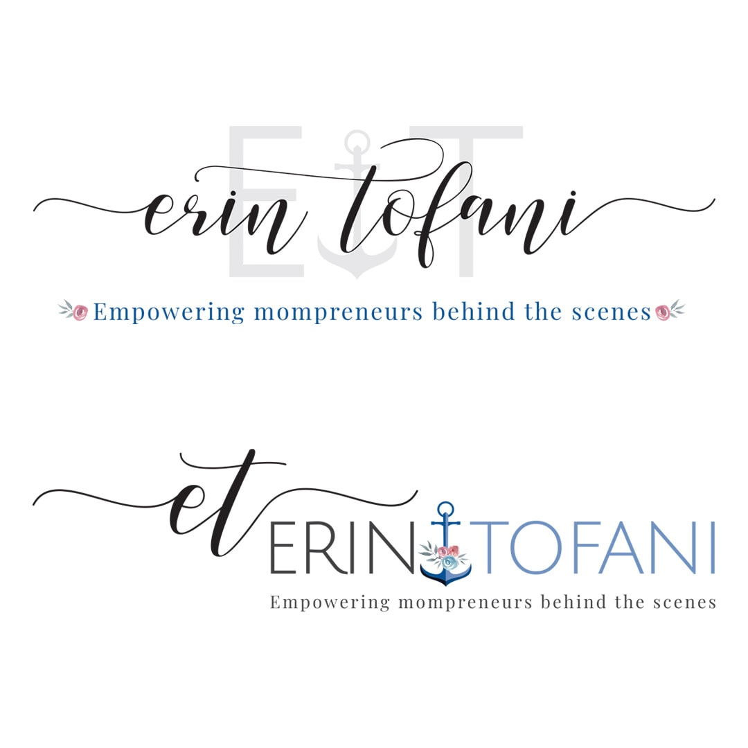 Erin Tofani Logos Primary and secondary