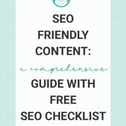 SEO Friendly Content A Comprehensive Guide plus SEO Checklist