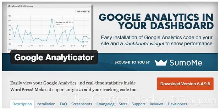 Google Analytics for Dashboard Plugin