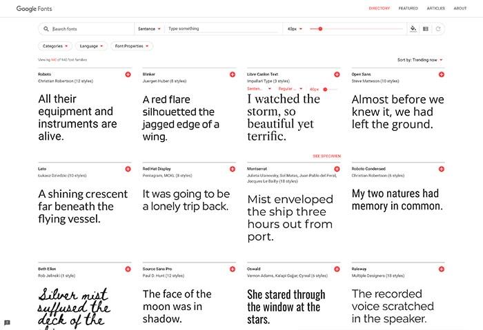Blog design choosing fonts