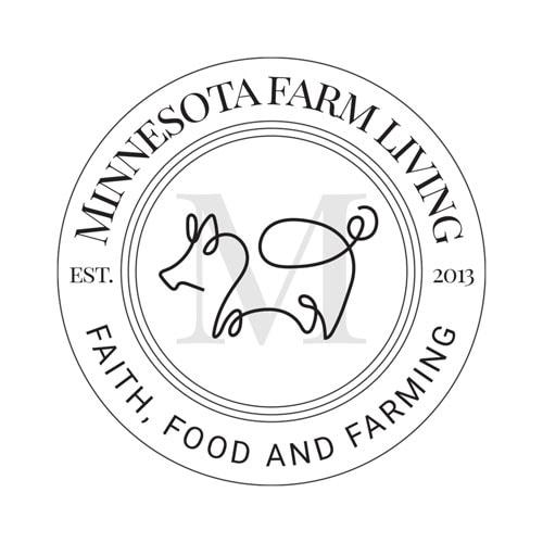 Minnesota Farm Living Submark Logo Dark Monochromatic