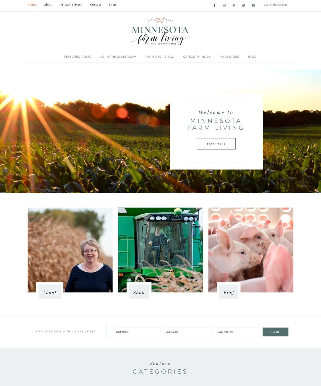 Minnesota Farm Living Blog Design 2019