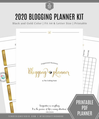 Organized Business Blogging Black & Gold