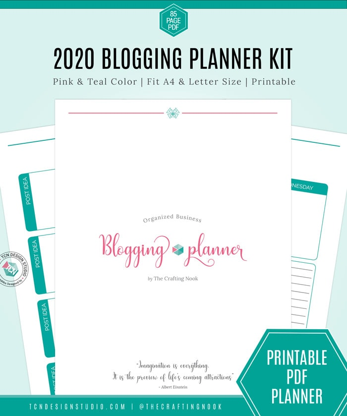 Organized Business Blogging Planner 2020
