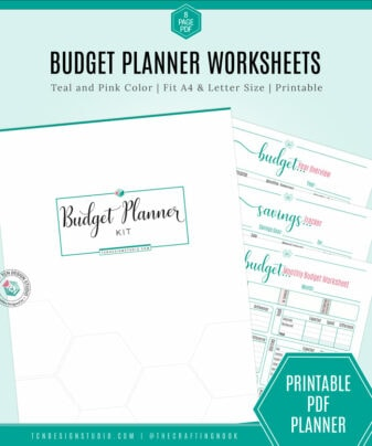 Budget Planner Kit, Pink and Teal