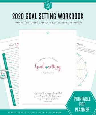 Intentional Life Planner Goal Setting Teal & Pink