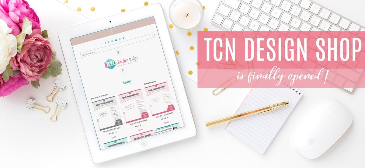 TCN Design Studio Shop Announcement