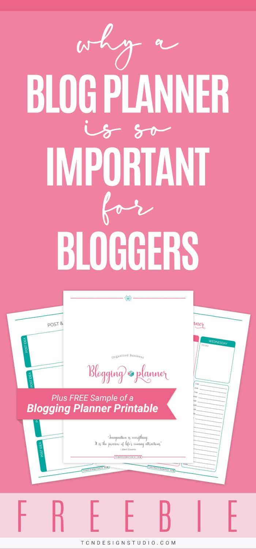 Organized Business Blogging Planner + Free Blog Planner Sample Pin 2