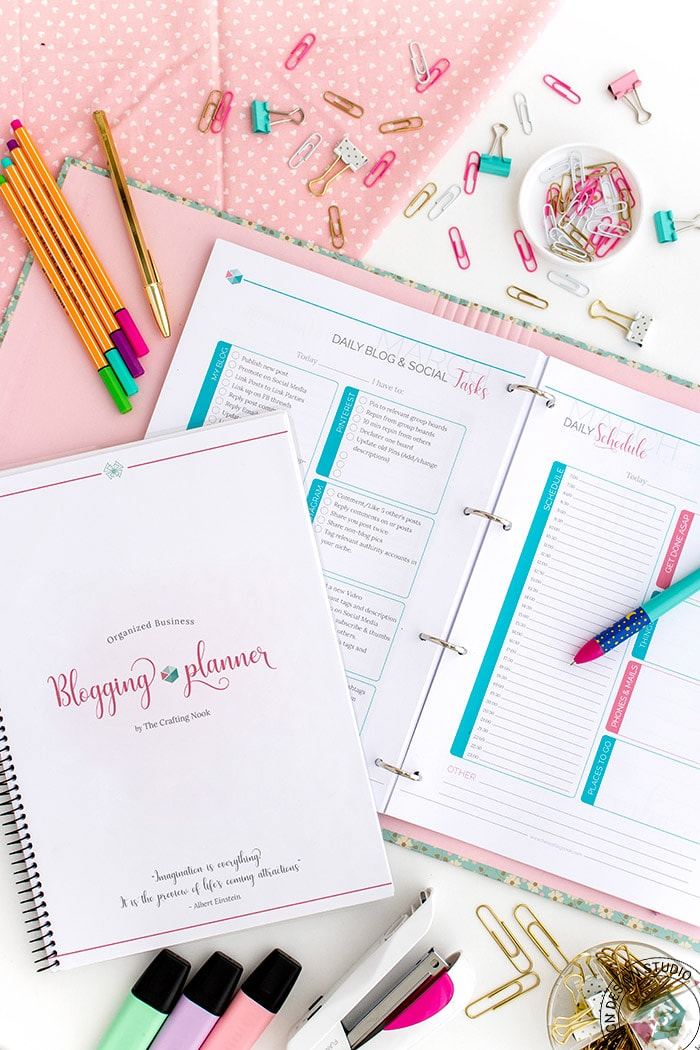 Blogging Planner 2020, Teal and Pink and so pretty.
