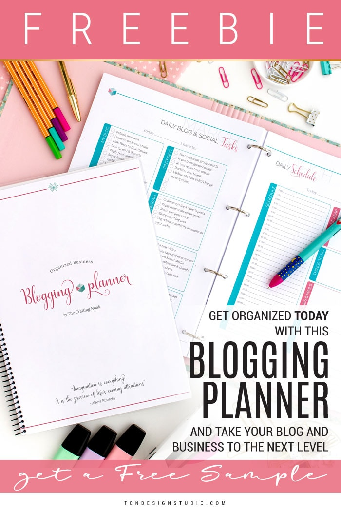 Organized Business Blogging Planner + Free Blog Planner Sample Promo 1