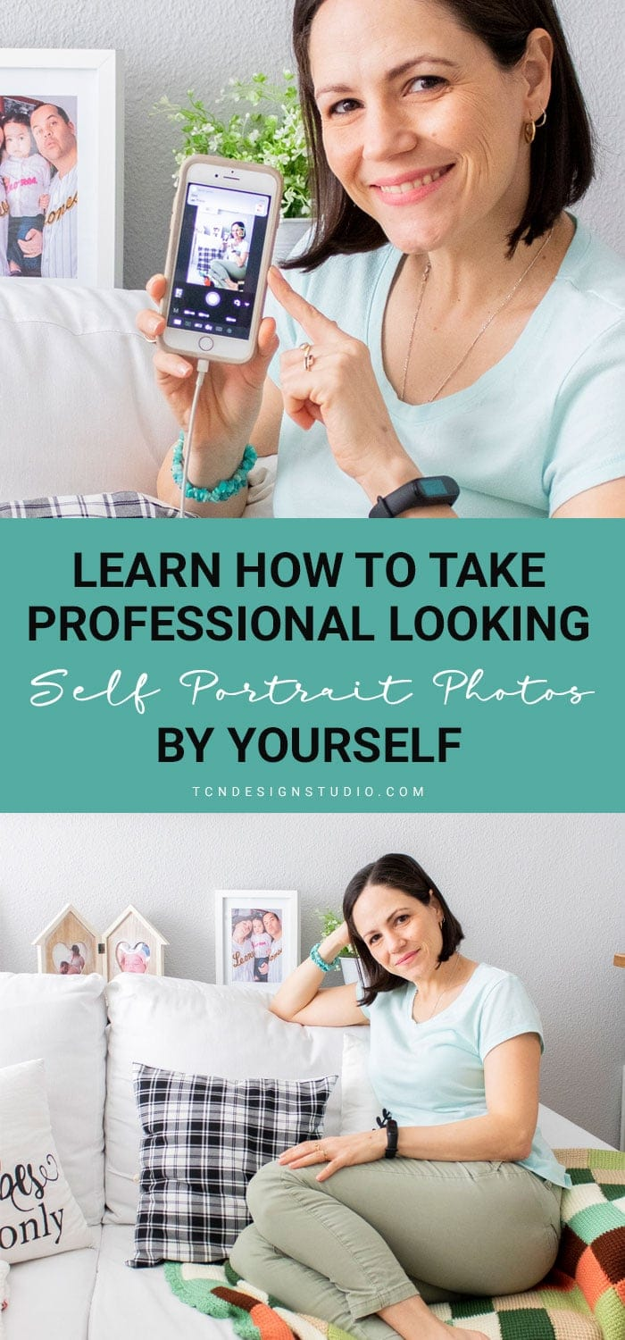 Learn how to take gorgeous looking self portrait photos by yourself