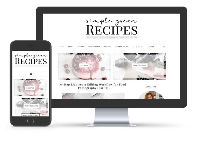 Simple Green Recipes Custom Blog Design