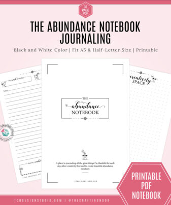 The Abundance Notebook. A Gratitude Journal
