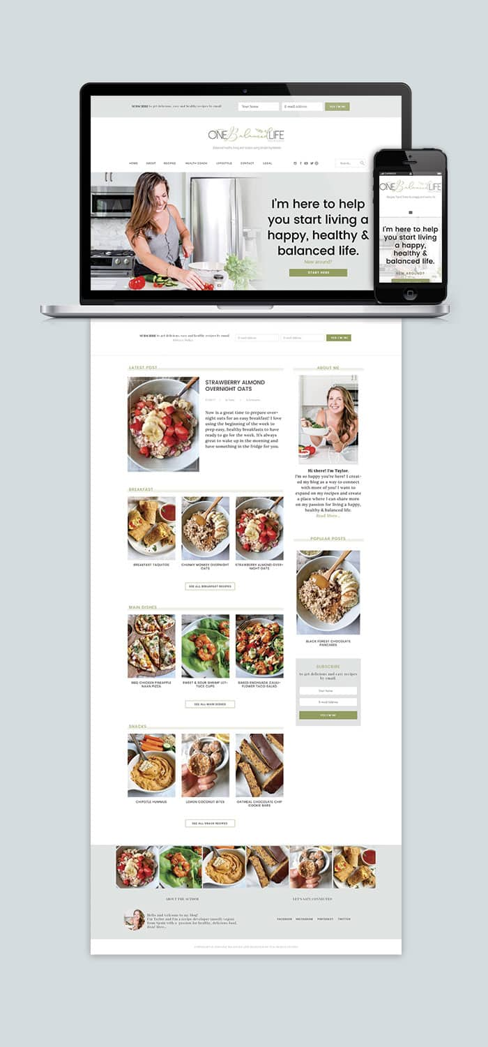 One Balanced Life Resposive Website Layout!