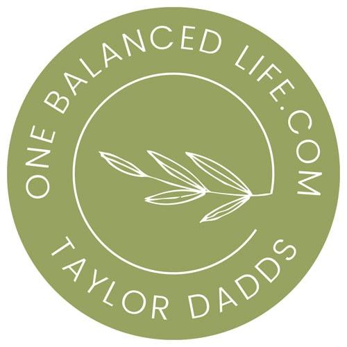 One Balanced Life Submark Logo Dark Backgrounds