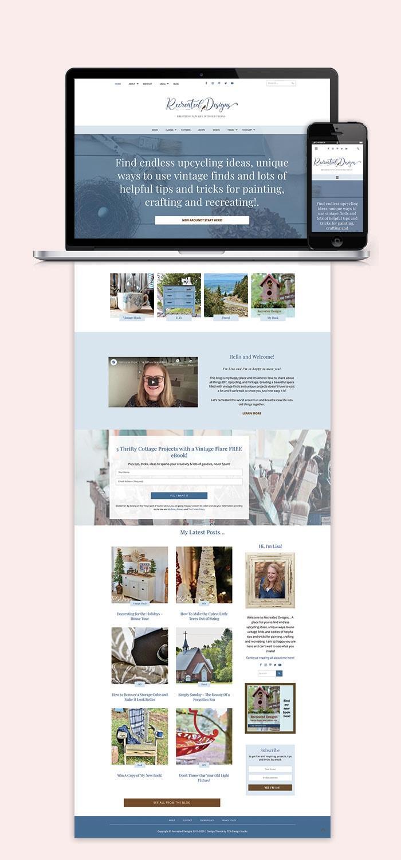 Recreated Designs Website Blog Design 2020 Refresh