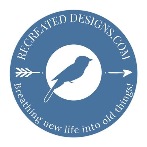 Recreated Designs Submark Logo Dark Backgrounds