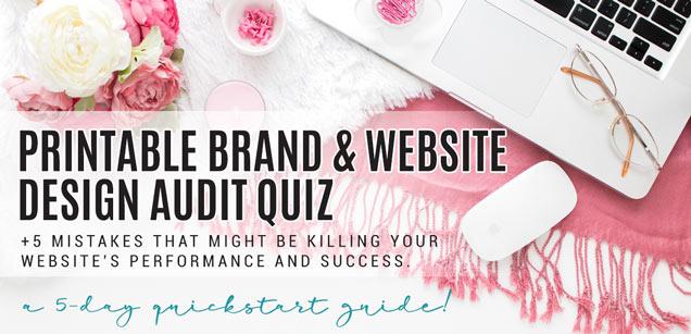 Free Quick Brand and Website Design Audit Quiz