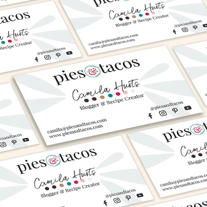 Pies & Tacos Business Cards Design 2021