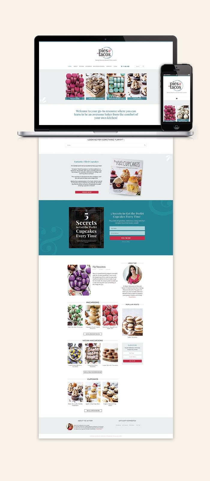 Pies & Tacos Website Blog Design 2021