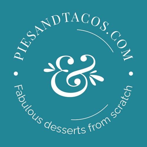 Pies & Tacos Submark Logo on Dark Color