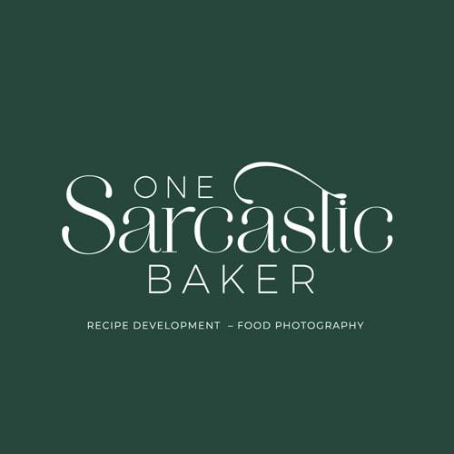 One Sarcastic Baker Main Logo 2021 Dark Background