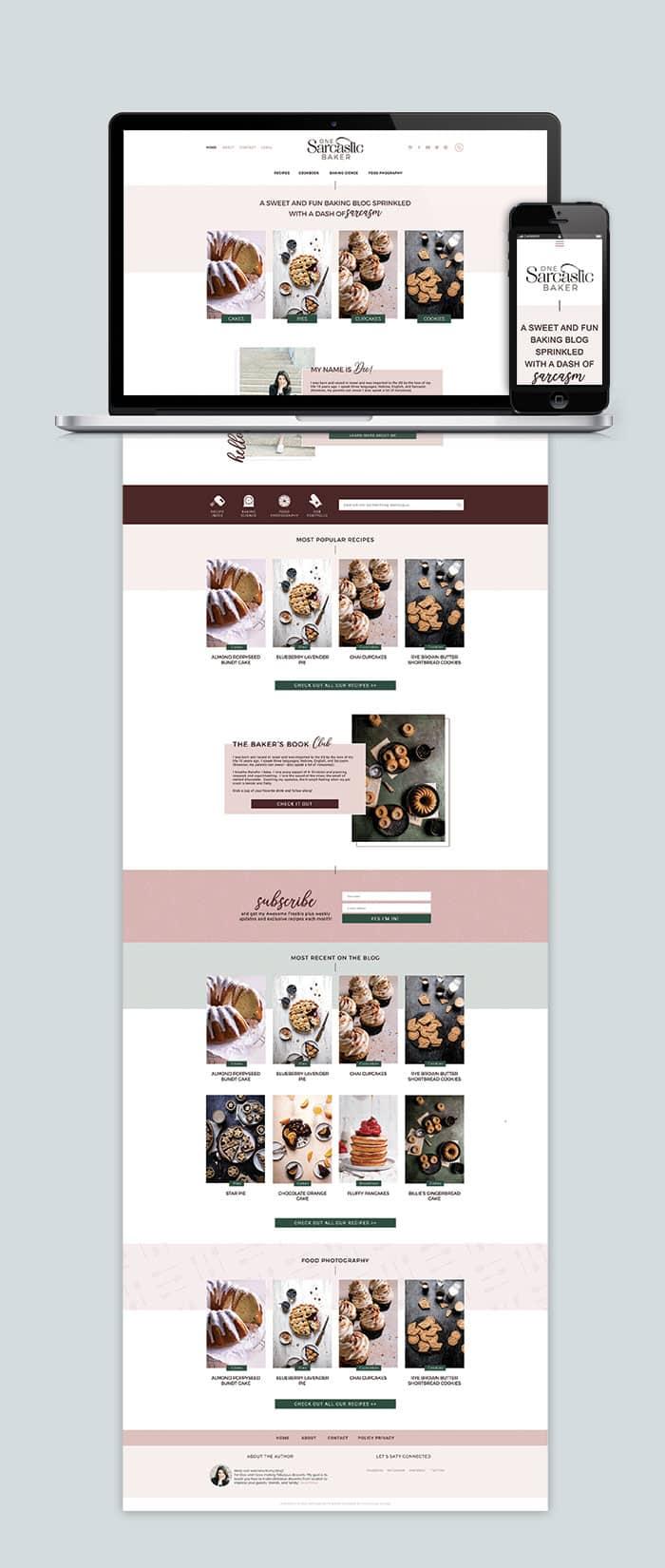 One Sarcastic Baker Blog Design 2021